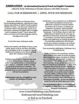 Official call for submissions. Click on image to read PDF for more information.